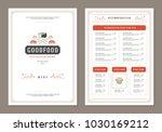sushi restaurant menu design... | Shutterstock .eps vector #1030169212
