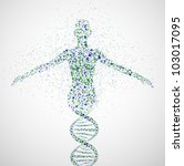 abstract model of woman of dna... | Shutterstock .eps vector #103017095