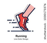 running shoes line color icon   Shutterstock .eps vector #1030173376
