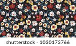 seamless pattern with small... | Shutterstock .eps vector #1030173766