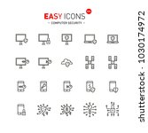 easy icons 43a computer security | Shutterstock .eps vector #1030174972