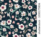 seamless pattern with small... | Shutterstock .eps vector #1030175836