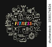 fitness colorful gradient with... | Shutterstock .eps vector #1030176826