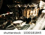 cocktail glasses with martini... | Shutterstock . vector #1030181845