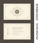 luxury business card and... | Shutterstock .eps vector #1030188646