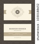 luxury business card and... | Shutterstock .eps vector #1030188652