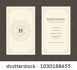 luxury business card and...   Shutterstock .eps vector #1030188655