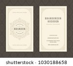 luxury business card and...   Shutterstock .eps vector #1030188658