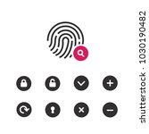 fingerprint icon.symbol for... | Shutterstock .eps vector #1030190482