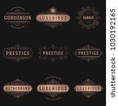 luxury logos templates set ... | Shutterstock .eps vector #1030192165