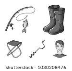 fishing  fish  catch  fishing... | Shutterstock .eps vector #1030208476