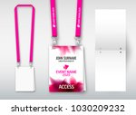 design of double hole lanyard.... | Shutterstock .eps vector #1030209232
