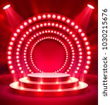 stage podium with lighting ... | Shutterstock .eps vector #1030215676