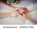 couple of lovers hold hands ... | Shutterstock . vector #1030217962