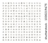web icon set. collection of... | Shutterstock .eps vector #1030219675