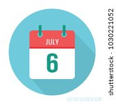 july 6 calendar icon flat.... | Shutterstock .eps vector #1030221052