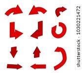 3d red arrow icon in trendy...   Shutterstock .eps vector #1030221472