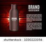 premium shampoo ads. realistic... | Shutterstock .eps vector #1030223356