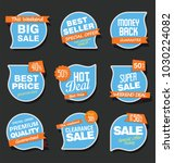 sale stickers and tags vector... | Shutterstock .eps vector #1030224082