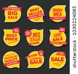 sale stickers and tags vector... | Shutterstock .eps vector #1030224085