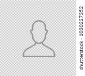 head vector icon eps 10. human... | Shutterstock .eps vector #1030227352