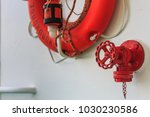 live saver attached at... | Shutterstock . vector #1030230586