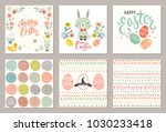 cute happy easter templates... | Shutterstock .eps vector #1030233418
