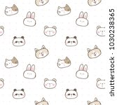 seamless pattern of cute... | Shutterstock .eps vector #1030238365