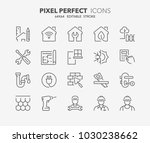 thin line icons set of... | Shutterstock .eps vector #1030238662
