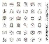online game icon set.... | Shutterstock .eps vector #1030240132