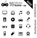 basic   media icons | Shutterstock .eps vector #103024412