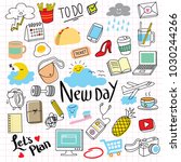 set of colorful everyday... | Shutterstock .eps vector #1030244266