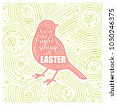 spring card. the lettering  ... | Shutterstock .eps vector #1030246375