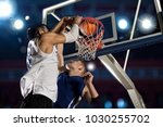 two basketball players in... | Shutterstock . vector #1030255702