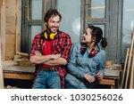 portrait of carpenters in the... | Shutterstock . vector #1030256026