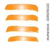set of hand painted orange... | Shutterstock .eps vector #1030256122