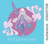 persephone character vector... | Shutterstock .eps vector #1030257538