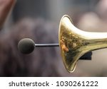 Brass Trumpet  Front Side With...