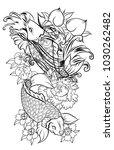 japanese tattoo design full... | Shutterstock .eps vector #1030262482