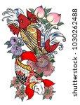 japanese tattoo design full... | Shutterstock .eps vector #1030262488
