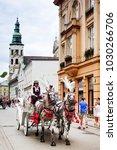 krakow  poland   august 27 ... | Shutterstock . vector #1030266706