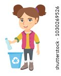 eco friendly caucasian girl... | Shutterstock .eps vector #1030269526