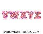 alphabet. letters v  w  x y  z. ...
