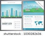 city brochure with urban... | Shutterstock .eps vector #1030282636