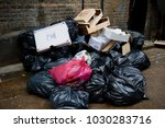 London, United Kingdom, 18th Febuary 2018:- Rubbish left during the festivities to celebrate Chinese New Year In London's Chinatown area and surrounding streets for the year of the dog 2018 - stock photo