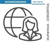 businesswoman icon.... | Shutterstock .eps vector #1030285516