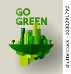 eco friendly city concept... | Shutterstock .eps vector #1030291792