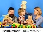 kindergarten and family concept.... | Shutterstock . vector #1030294072