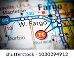 West Fargo. North Dakota. USA on a map.