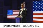 confident african american... | Shutterstock . vector #1030299412